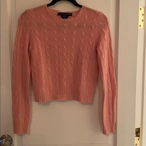 Ralph Lauren Pink Cashmere crop sweater
